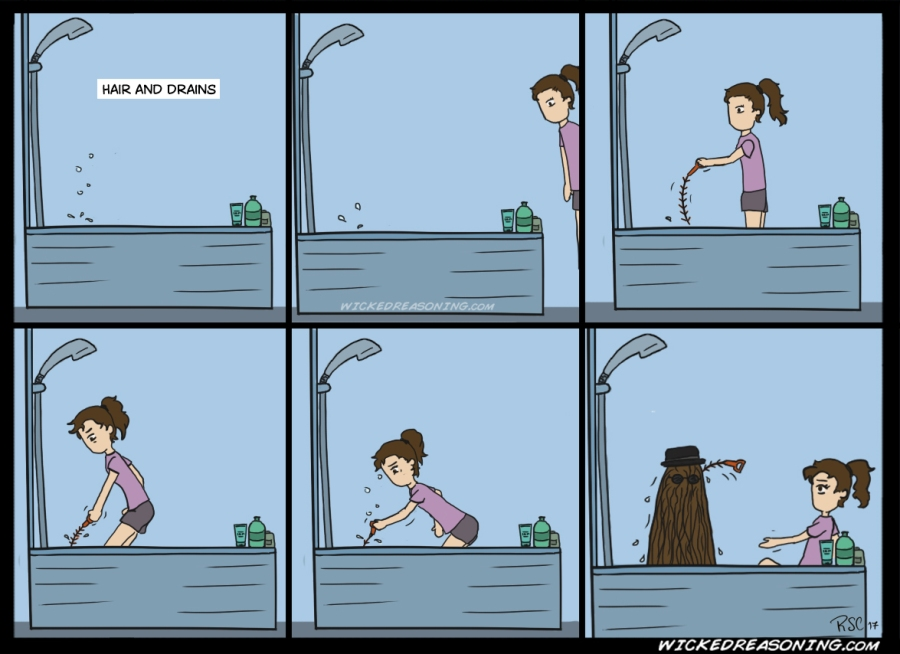 134 long hair sink unclog wicked reasoning comic